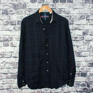 Robert Graham Men's Button Front Shirt Black